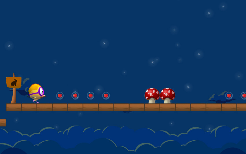 Hopping bird game screenshot