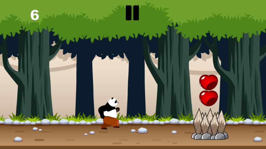 Panda forrest run screenshot