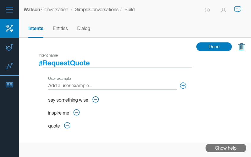 RequestQuote intent creation