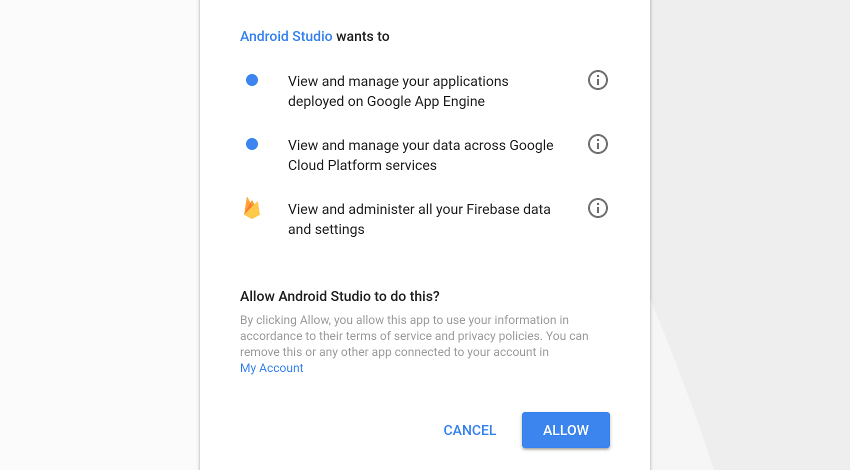 Android Studio requesting permissions