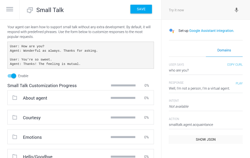 Create a Conversational Interface for Android With Dialogflow