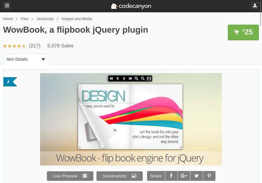 How to Use the WowBook jQuery Flipbook Plugin