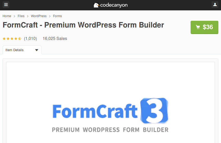 FormCraft on CodeCanyon
