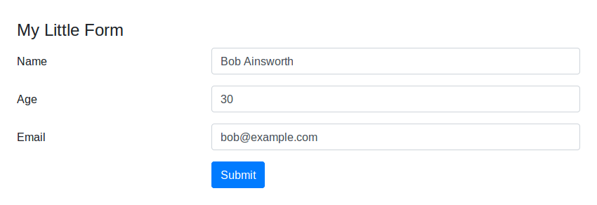 Submit button using a different style