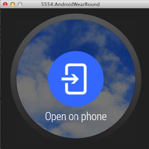 Example of an Android Wear action button