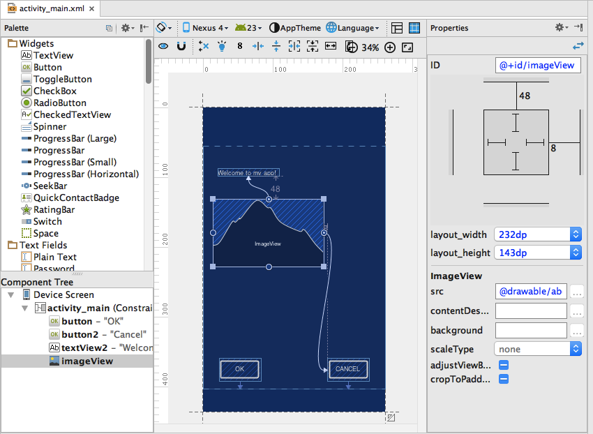 The New Layout Editor in Android Studio 22 Preview 1
