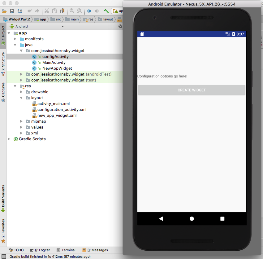 Code a Widget for Your Android App: Add a Configuration Activity