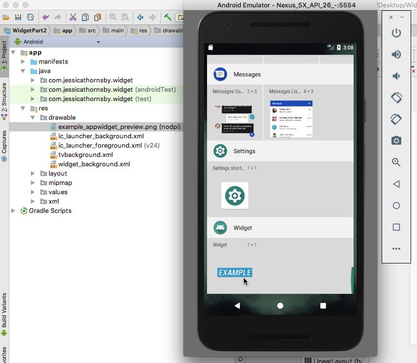 Create a unique Android app widget preview image