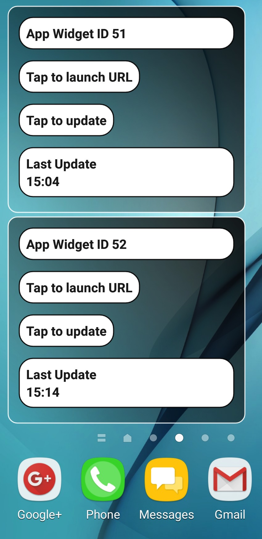 Create multiple instances of the same application widget