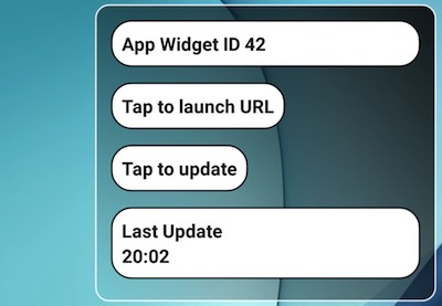 Code android app widget update