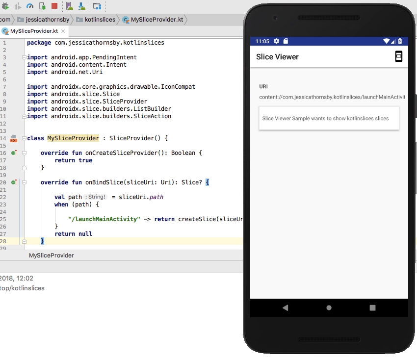 Code Your First Android Slice and Keep Users Engaged
