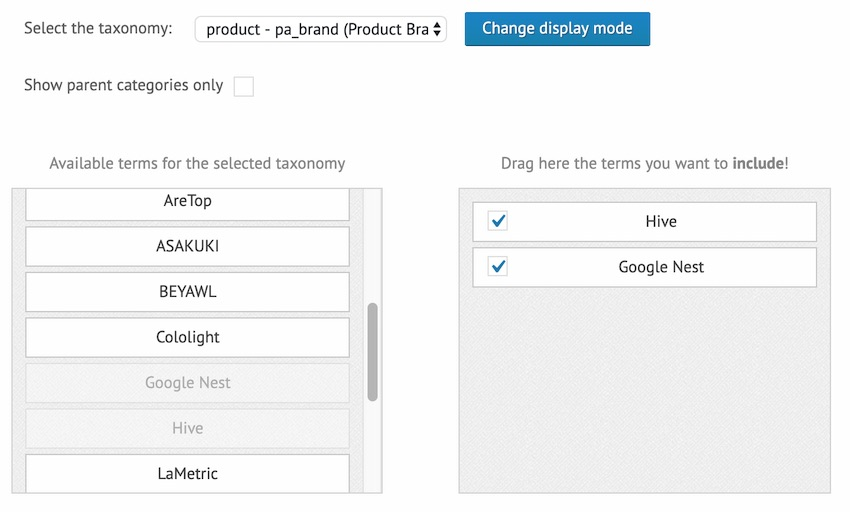 This WordPress plugin supports a number of built-in taxonomy and terms by default