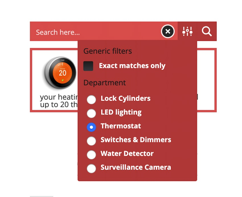 Its possible to use custom filters to create a powerful custom search engine
