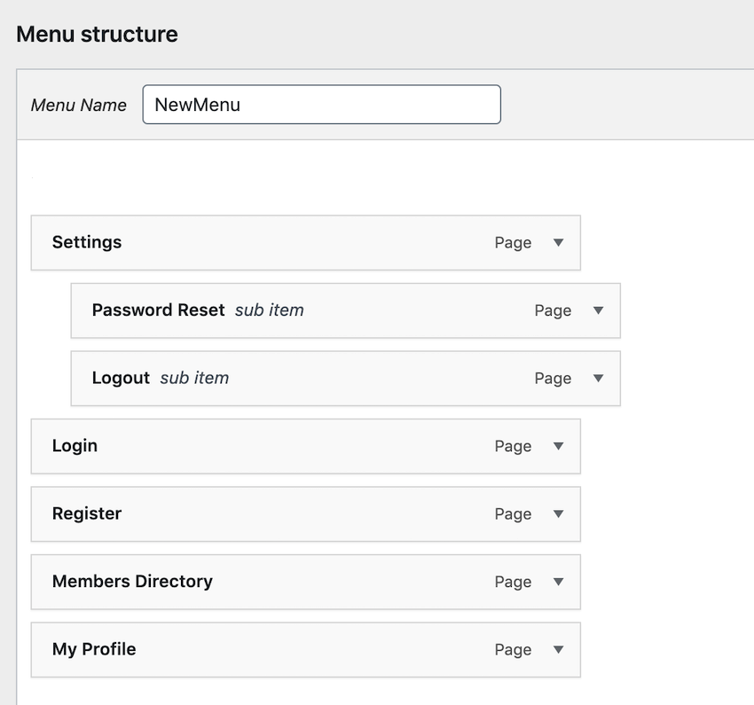 You can turn any regular menu into a dropdown menu using drag and drop