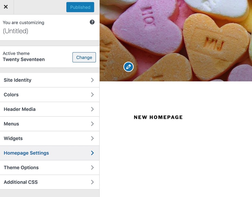You can switch between a static and a blog-based homepage by navigating to Appearance  Customize  Homepage settings