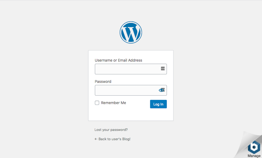 You can now log into the WordPress admin dashboard