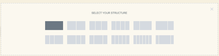 When you create a section youll need to specify a structure for that section Elementor sections consists or one or multiple columns