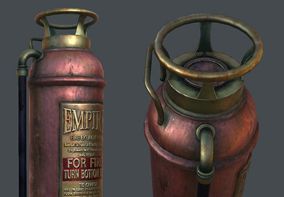Preview for Create a Game Ready Fire Extinguisher with 3D Studio Max: Part 3