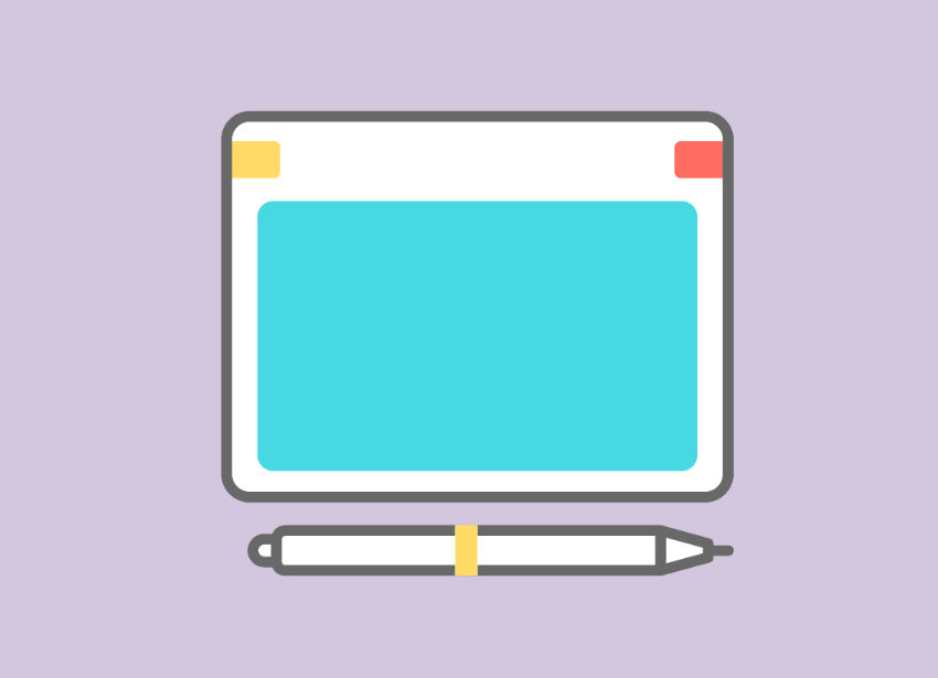 Illustration of a graphics tablet