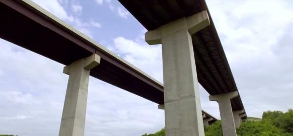 Two parallel bridges