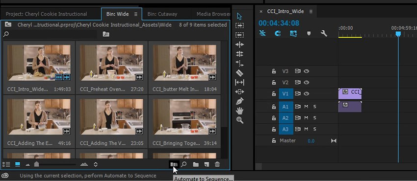 Automate to sequence in Adobe Premiere Pro