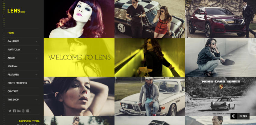 Lens WordPress photography theme