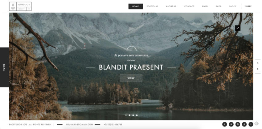 Outdoor WordPress portfolio theme