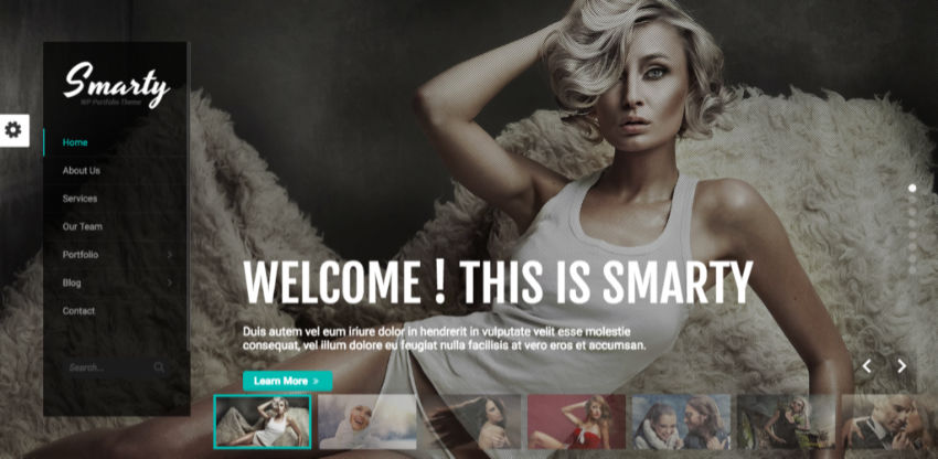 Smarty WordPress theme from Envato
