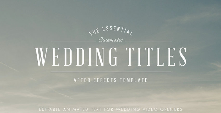 Top Adobe After Effects Projects And Templates To Watch In - Editable after effects templates