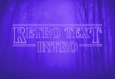 Retro text intro