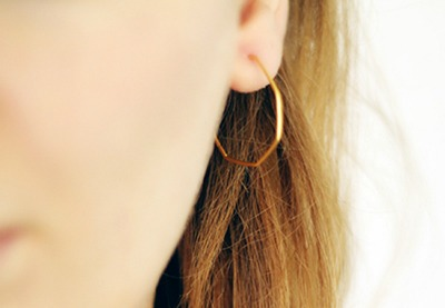 Preview heptagon earring