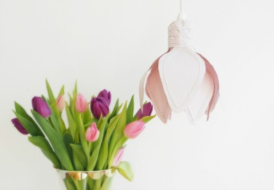 Preview for How to Make a Flower Lamp Shade With Fabric