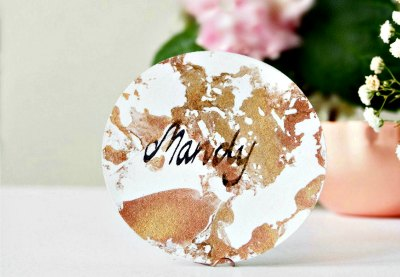 Preview marble place cards