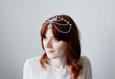Modern wedding head dress preview image
