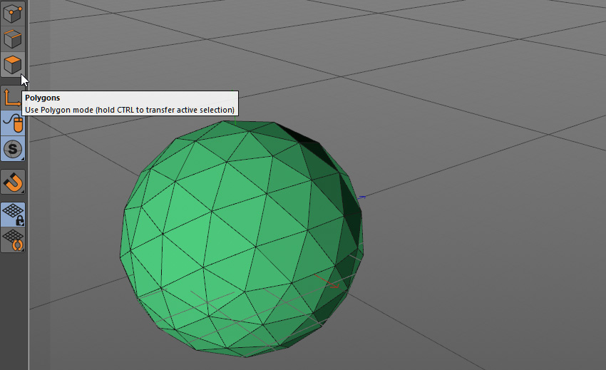 Polygon tool in Cinema 4D