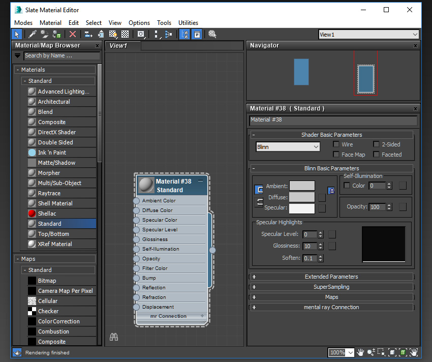 Image of the material editor