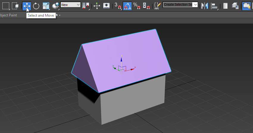 Image of a box and a prism to create a house
