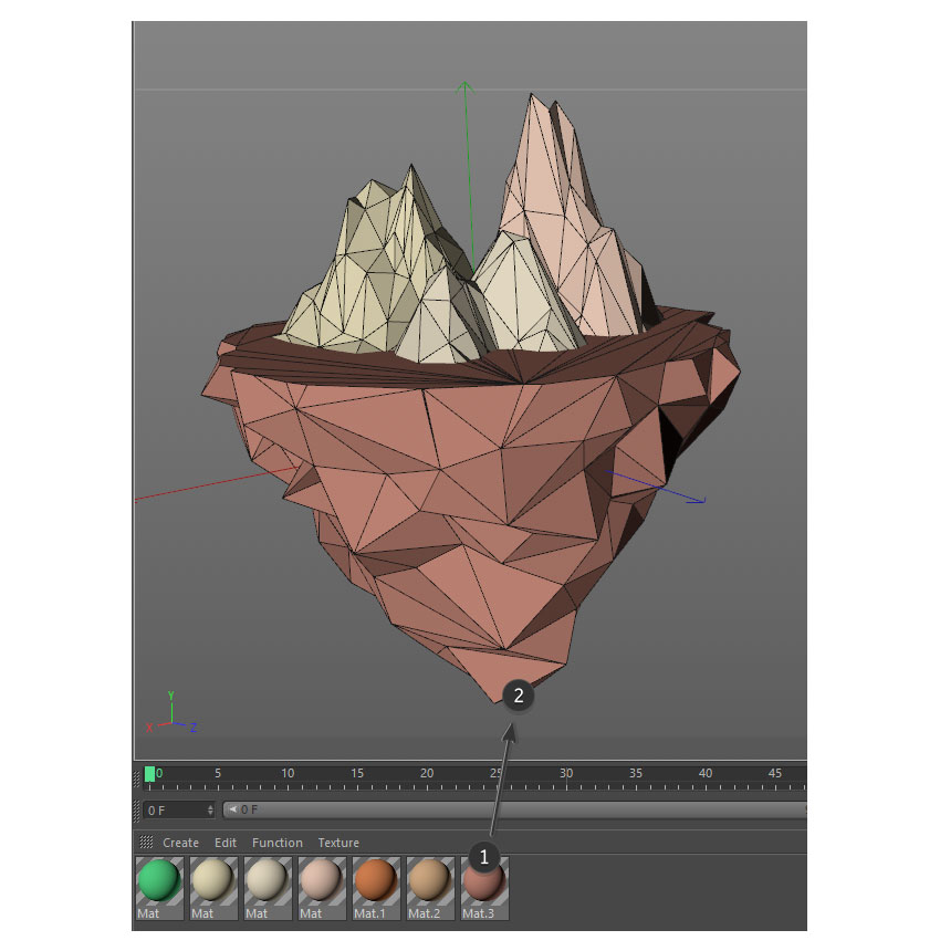 How to Create a Low Poly Floating Island in C4D