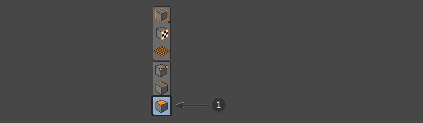 Selecting the polygons button
