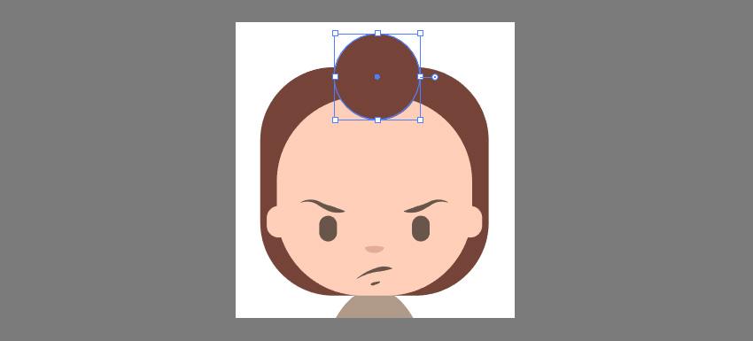 Creating the Hair using the Circle Tool