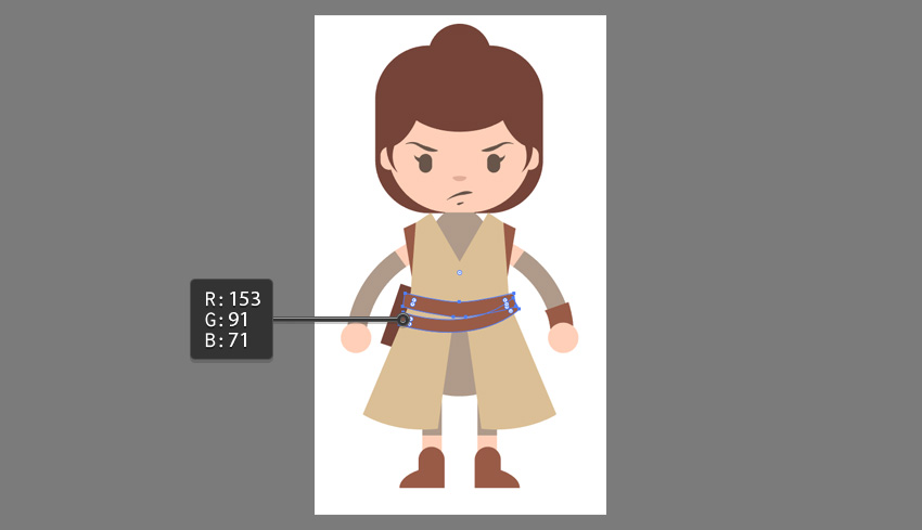 Creating the belt using the Pen Tool
