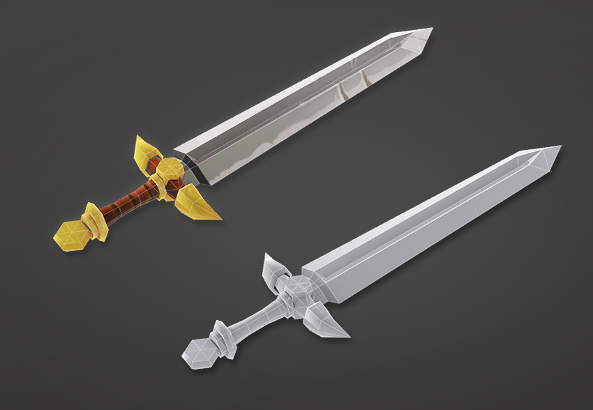 Final sword model including the texture map