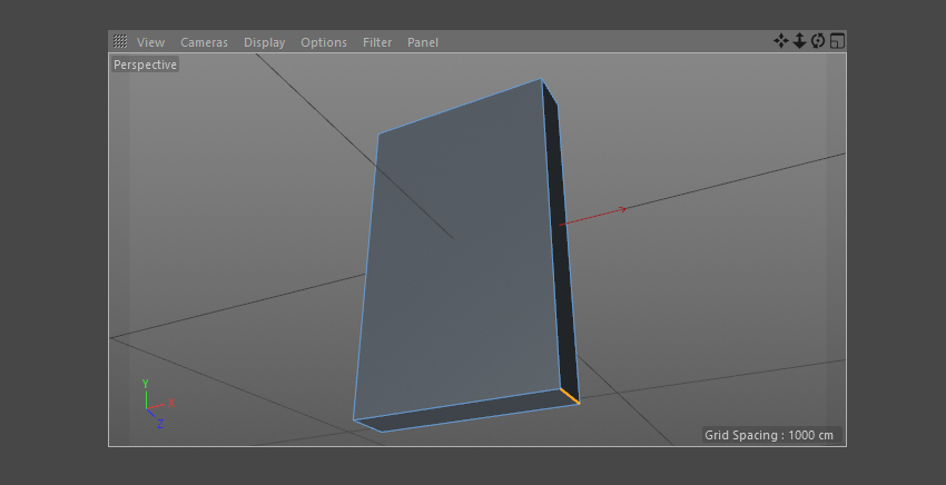 Select the right corner of the shape with Edge Selection