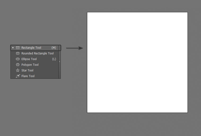 Use the Rectangle Tool to create a 850 x 850 box
