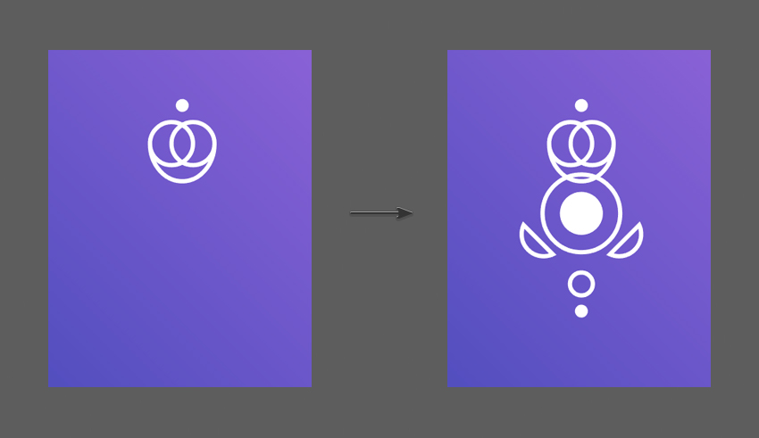 Combine all the shapes to create the final Queen Icon