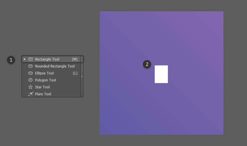 Use the Rectangle Tool to create a small shape