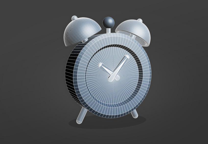 Final Alarm Clock 3D Model