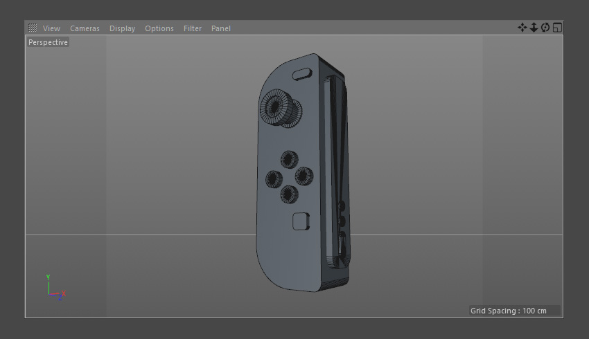 The Nintendo Joy-Con in 3D