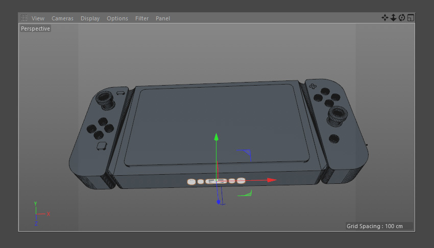 Final Nintendo Switch model in 3D