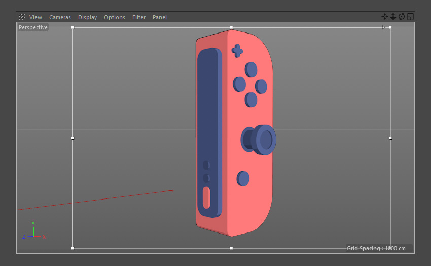 Apply the materials to the red Joy-Con